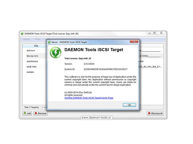 Windows 7 DAEMON Tools iSCSI Target 2.1.0 full